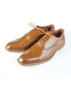 รองเท้า Captoe Oxford สีแทน